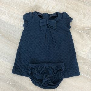 Gymboree Quilted Dress Blue Bows size 3-6 months